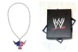 The Rock Team Bring It USA Pendant Necklace FREE SHIP with WWE Box