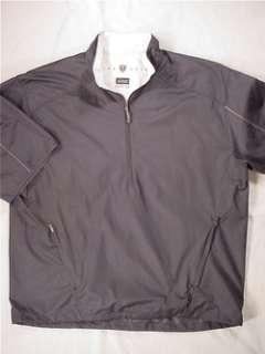 NIKE Clima Fit Short Sleeve Golf Pullover Jacket (Mens Large) Black