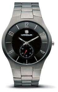 Hanowa Mens Precision Slim Black Dial Titanium Wrist Watch 16 5020.15