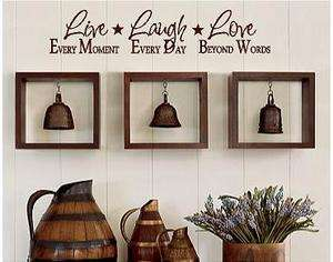 Vinyl Lettering wall decal words home quotes family sticker art