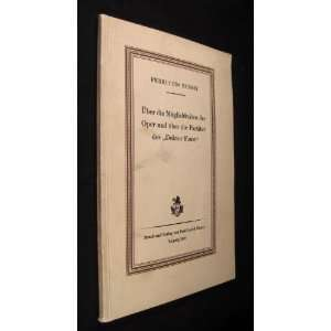 und uber die Partitur des Doktor Faust Ferruccio Busoni: Books
