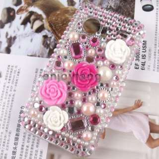Rhinestone Bling Crystal HARD CASE for HTC Droid Incredible 6300 #02