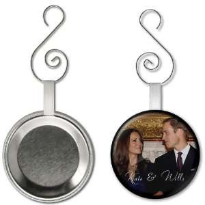 Prince William Kate Middleton Royal Wedding 2.25 inch Button Style