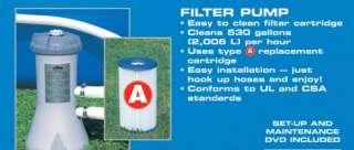 INTEX Metal Frame Set 10 x 30 Swimming Pool with Filter Pump