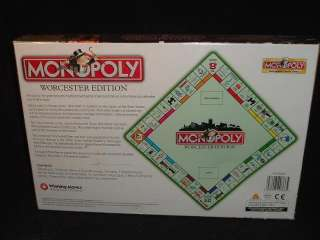 Worcester Monopoly UK Edition New SEALED Great Britain England United
