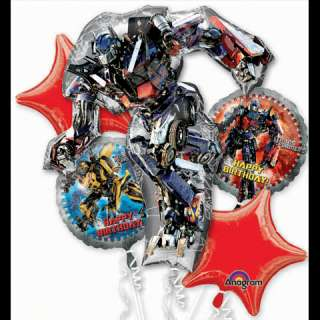 TRANSFORMERS 3 Birthday Balloon Bouquet Party kit set
