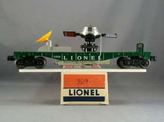 DTD   O SCALE MODEL TRAIN   LIONEL 3519 SATELLITE LAUNCHING CAR