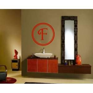 Letter F Monogram Letters Vinyl Wall Decal Sticker Mural Quotes Words