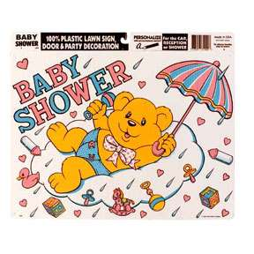 Boy /Girl Baby Shower Party CUTE BEAR YARD LAWN SIGN
