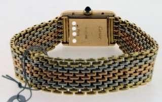 Cartier Tank 18k Tri Color Gold Ladies RARE Watch.