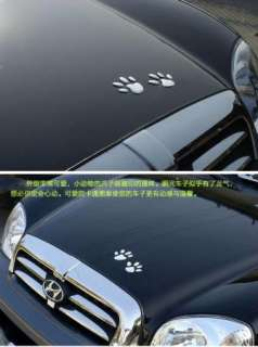 3M Puppy Dog Paws Emblem 3D Car Motor Decal Sticker