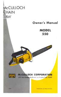 MCCULLOCH WILDCAT CHAIN SAW MODEL 60016002 PARTS MANUAL