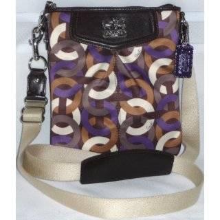Coach Madison Chainlink Swingpack Crossbody Messenger Bag Purse Purple