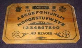 1920 FRENCH JM J.M. SIMMONS OUIJA BOARD WITCH SWASTIKA HEXAGRAM