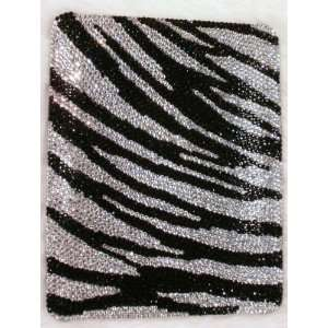 Black & White Zebra Animal Print Pattern Disgn Bling Apple IPad Case
