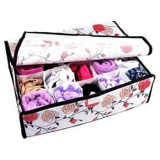 20 Lattice Space Rose Patterned Soft Case Cover Storage Box Container