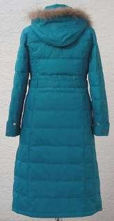 Womens Winter Long Down Coat(XRF805),Greenish Blue,Mz