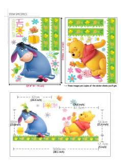 WINNIE THE POOH DISNEY CHARACTER WALL DECAL STICKER