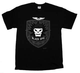 Call of Duty Black Ops Skull Logo Video Game T Shirt Tee