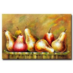 Fruit Basket Hand Painted Canvas Art Oil Painting