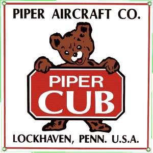 PIPER AIRCRAFT PIPER CUB METAL SIGN