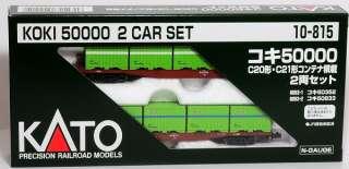 KATO 10 815 JRF Freight Car Type KOKI 50000 w/ C20 C21 Cargo Container