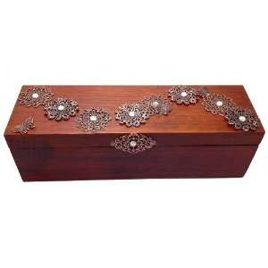 with Crystals Fine Exotic Wood Tea Box Sampler with 40 TAZO