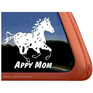 Appy Mom Leopard Appaloosa Horse Trailer Vinyl Window