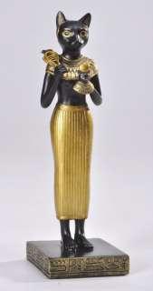 ANCIENT EGYPTIAN DEITY BASTET 6 TALL STATUE FIGURINE