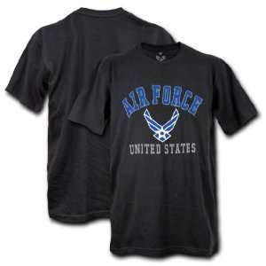 USAF AIR FORCE CLASSIC BLACK SINGLE MILITARY GRAPHIC T