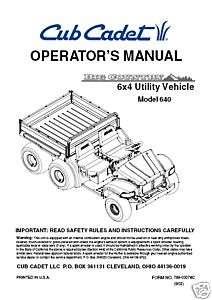 cub cadet i1042 service manual