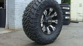 Gear Alloy 719 Black Machine Nitto Trail M/T 285/65 18