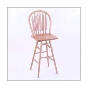 Maple Wood Arrow Back Commercial Grade Bar Stool: Furniture & Decor