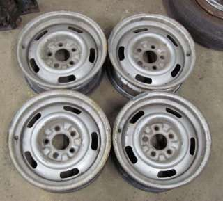 You are bidding on a set of Hard to find B Code Rally Wheels that