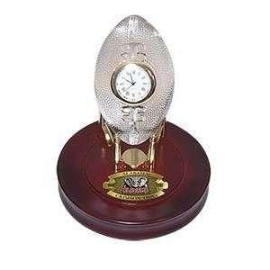 Alabama Crimson Tide Crystal Football Clock NCAA College