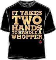 Burger King Two Hands Whopper Mens Shirt BR027MS