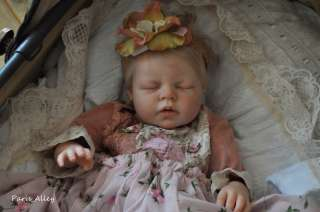 Pink Rose~French Lace Dress & Headband 4 Reborn Baby Doll