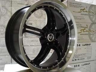 18 Stern Stagger Wheels ST5 Jockface Black machine lip 5x114.3 Blow