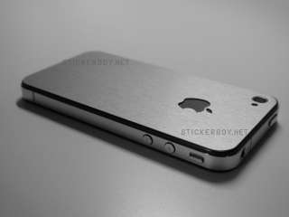 iPhone 4S Full Body Wrap Skin Kit, 3M Skins, Silver Aluminum by