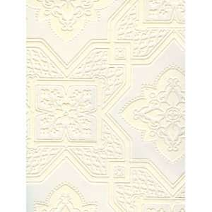 Texture Paintable Faux Decorative Tile Wallpaper in Surface Illusions