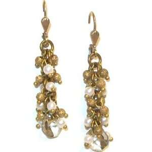 Catherine Popesco 14k Gold Plated Fringe Bead Dangle Earrings with