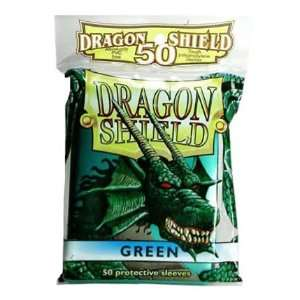 Dragon Shield Card Supplies STANDARD Card Sleeves Green 50