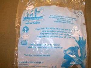 BURGER KING ICE AGE 2 TOY FROM KIDS MEAL