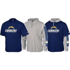 San Diego Chargers NFL Hoody & Tee Combo (Medium) Sports