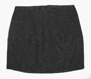 NWT Black GAP Sparkle Tweed Holiday Mini Skirt 14