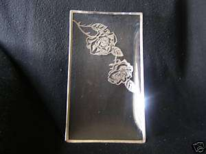 VINTAGE Glass RECTANGULAR Plate TRAY Embossed SILVER