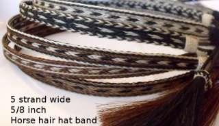 Cowboy Hat HORSE HAIR hat band Tassel Sorrel / White