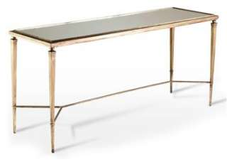 Alina Antique Gold & Mirror Leaf Elegant Console Table