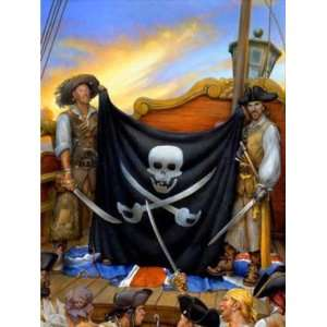 Wallpaper 4Walls Pirates and Skulls Jolly Roger KP1719EM1