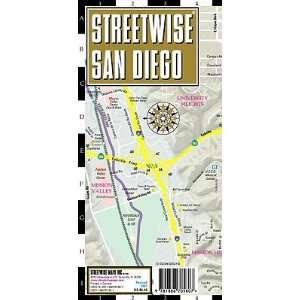 San Diego Map   Laminated City Street Map of San Diego, California